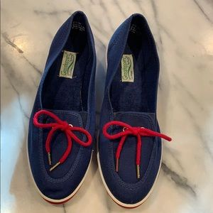 Grasshoppers by Keds Blue and Red Loafers size 7.5